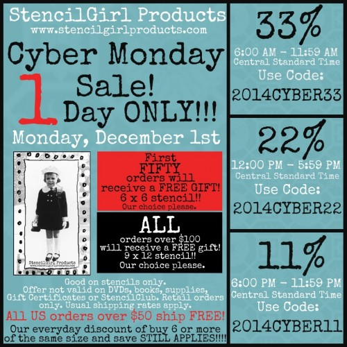 StencilGirlCyberMonday Deal