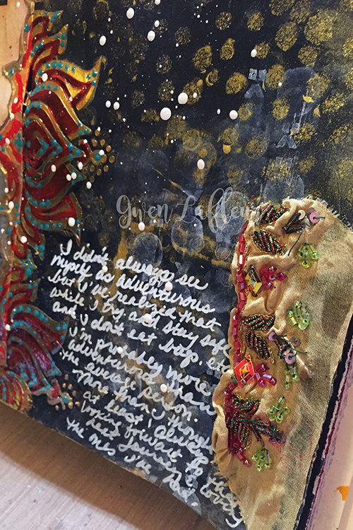 Adventure Art Journal Spread - Close-up 2 - Gwen Lafleur
