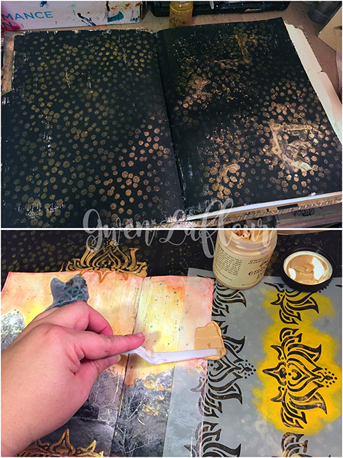 Adventure Art Journal Spread - Steps 1-2 - Gwen Lafleur
