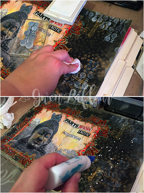 Adventure Art Journal Spread - Steps 5-6 - Gwen Lafleur