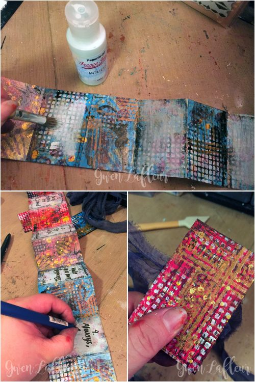 Letter to Future Self - Mini Art Journal Steps 9-11 - Gwen Lafleur